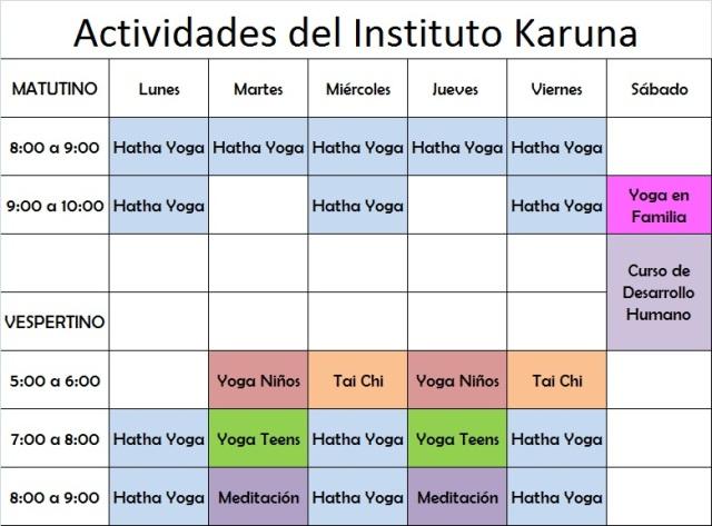 Actividades en el Instituto Karuna